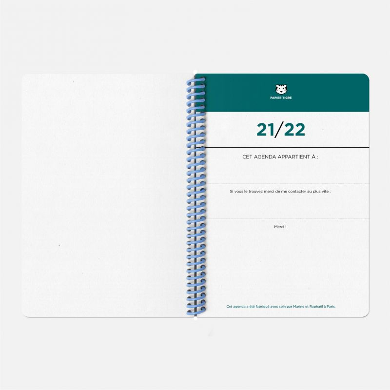 Agenda A5 21/22  Toilé Sapin
