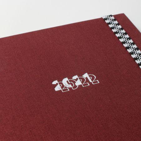 Diary A5 21/22  Toilé Bordeaux