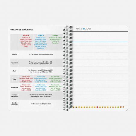 Agenda A6 21/22 Scolaire - Circuits noir