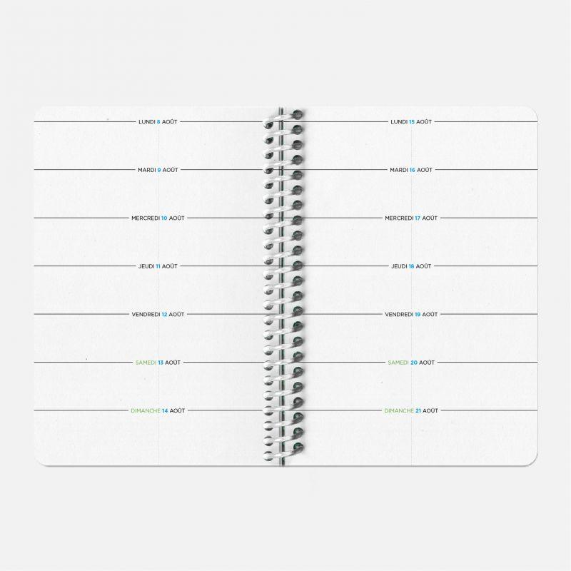 Diary A6 21/22 Scolar - Circuits noir