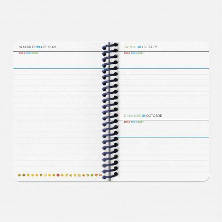 Diary A6 21/22 Scolar - Circuits bleu