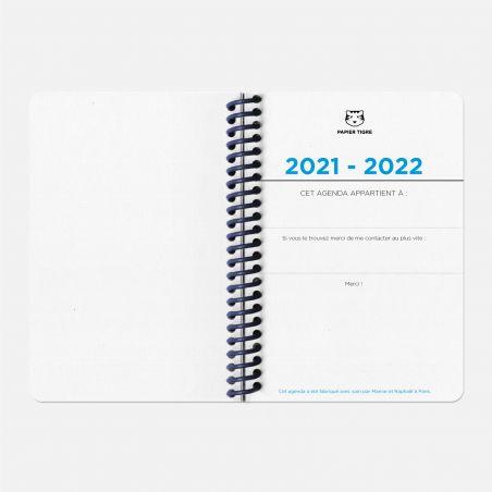 Agenda A6 21/22 Scolaire - Circuits bleu
