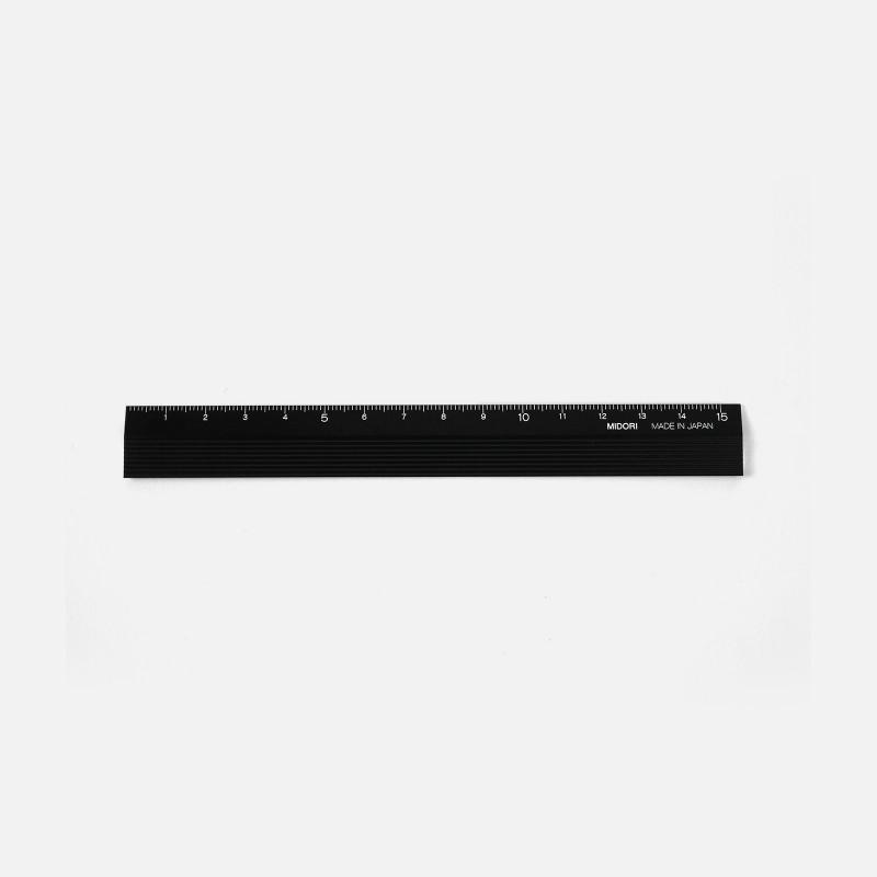 Règle Midori 15cm - Noir