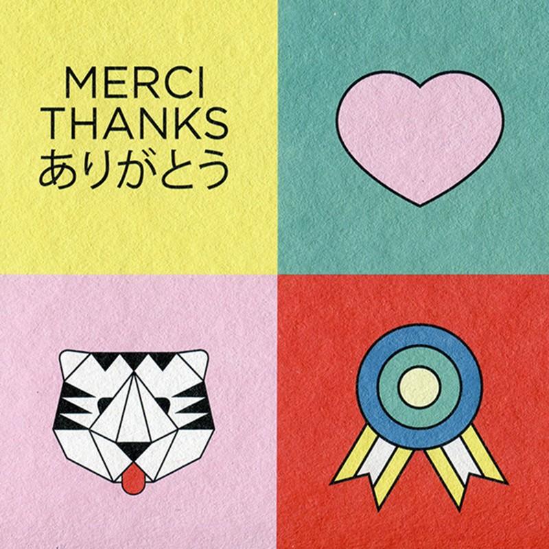 A5 Greeting Card - Merci Thx