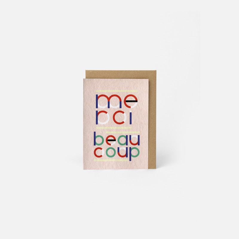 A6 Greeting Card - Merci BCP