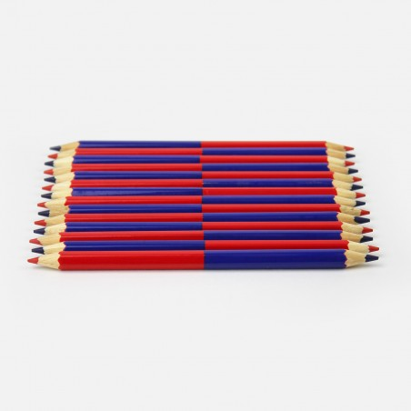 Bicolor Pencil - Red and Blue