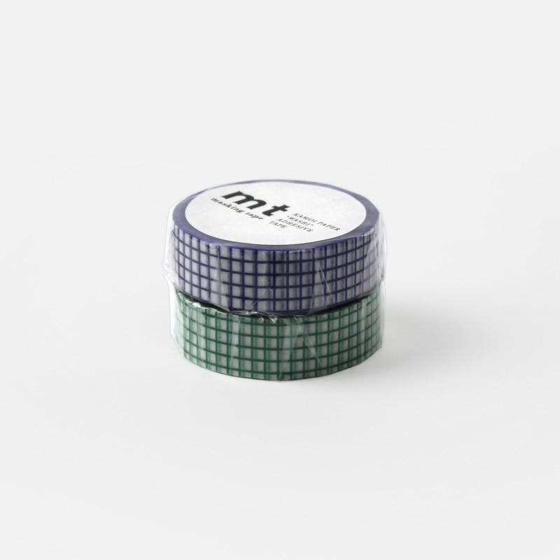 Masking Tape - quadrillé bleu