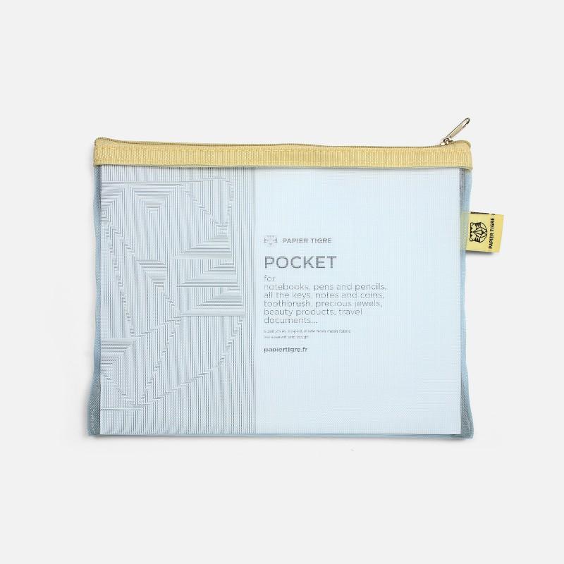 Mesh Pocket - Light Blue