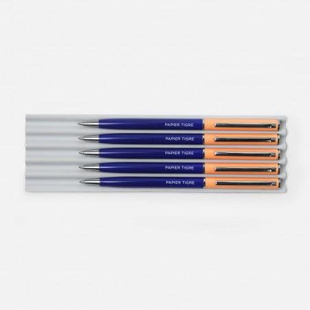 Stylo - Cobalt / Saumon
