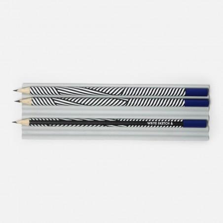 Pencil - Black Zebra