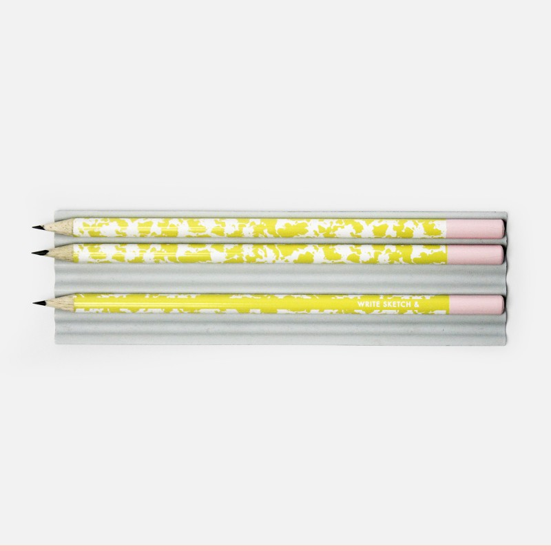 Pencil - Yellow Marbled