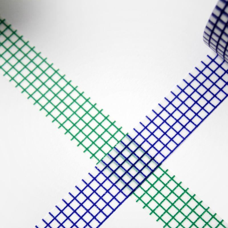 Masking Tape - quadrillé vert