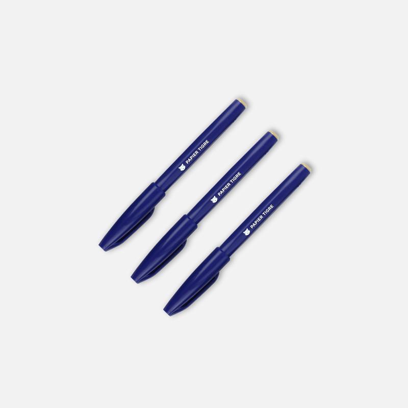 3 Sign Pen Bleus