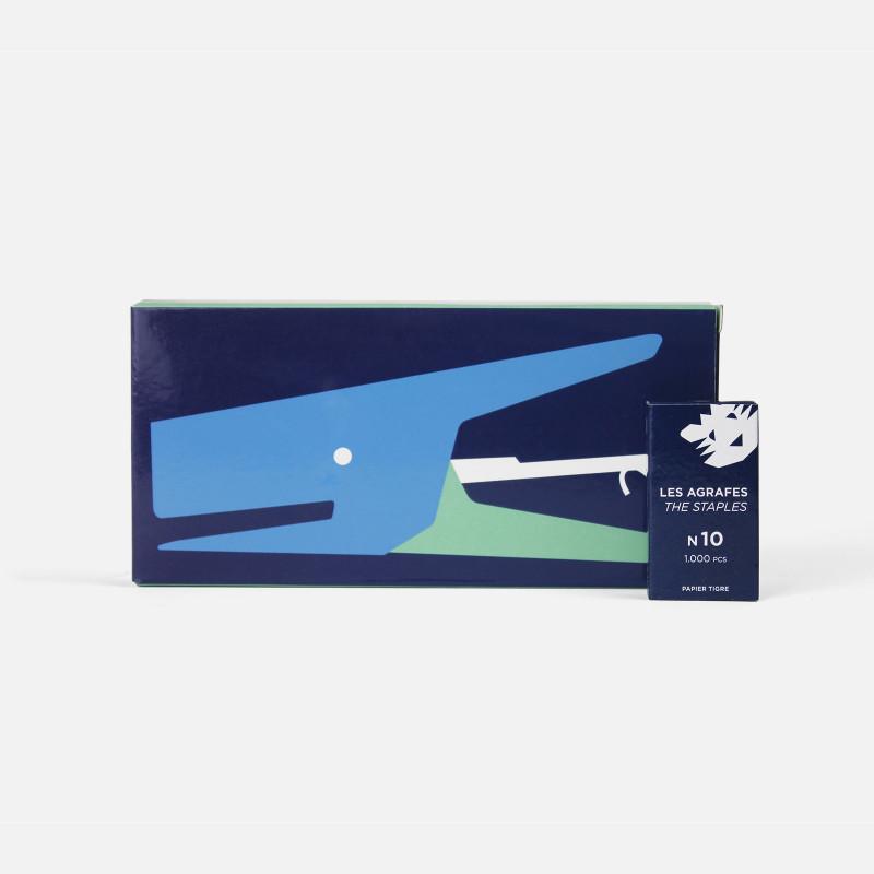 Blue-Green Stapler