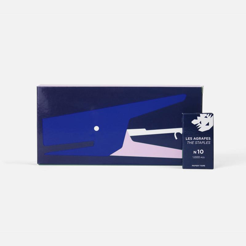 Cobalt-Pink Stapler