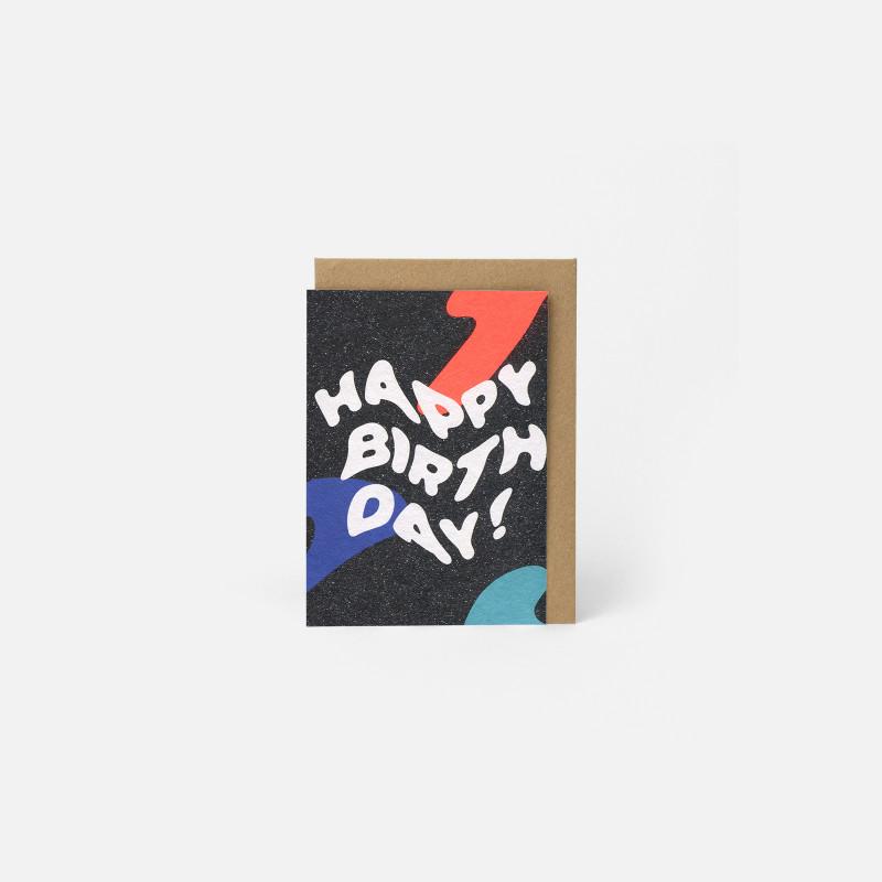 A6 Greeting Card - Happy Wavy