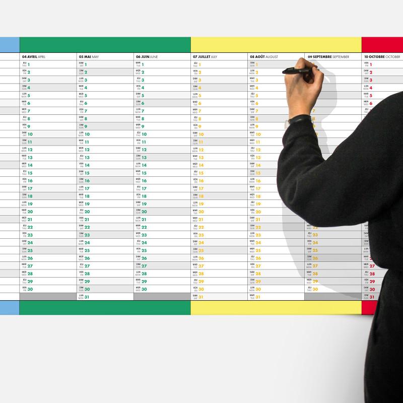 The Horizontal 2021 Calendar
