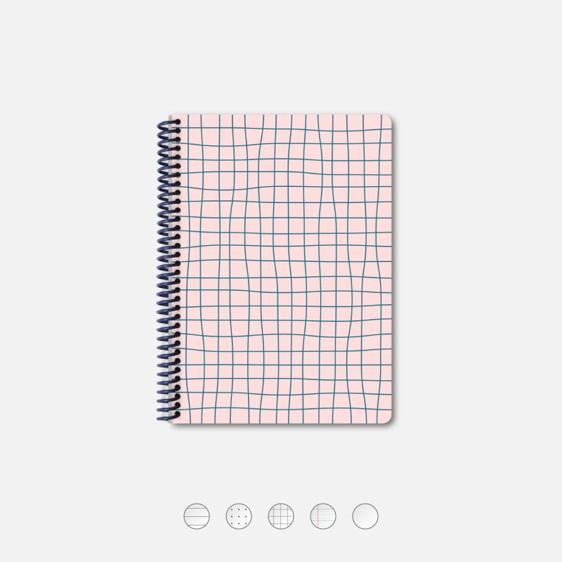 Notebook A5 Grid Pink