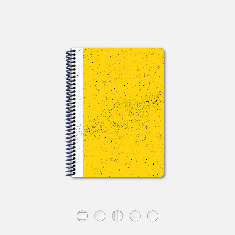 Hubble A5 notebook yellow
