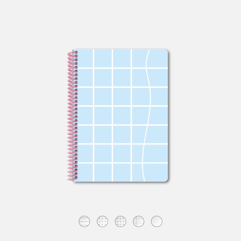 Notebook A5 Tile Blue Wave