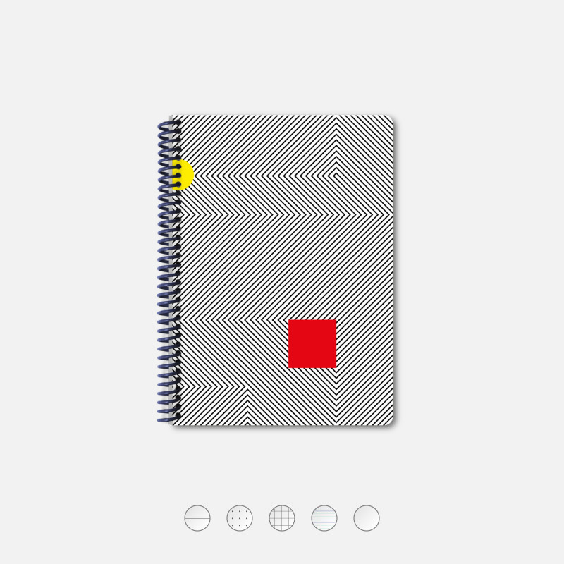 White Kinetic A5 Notebook