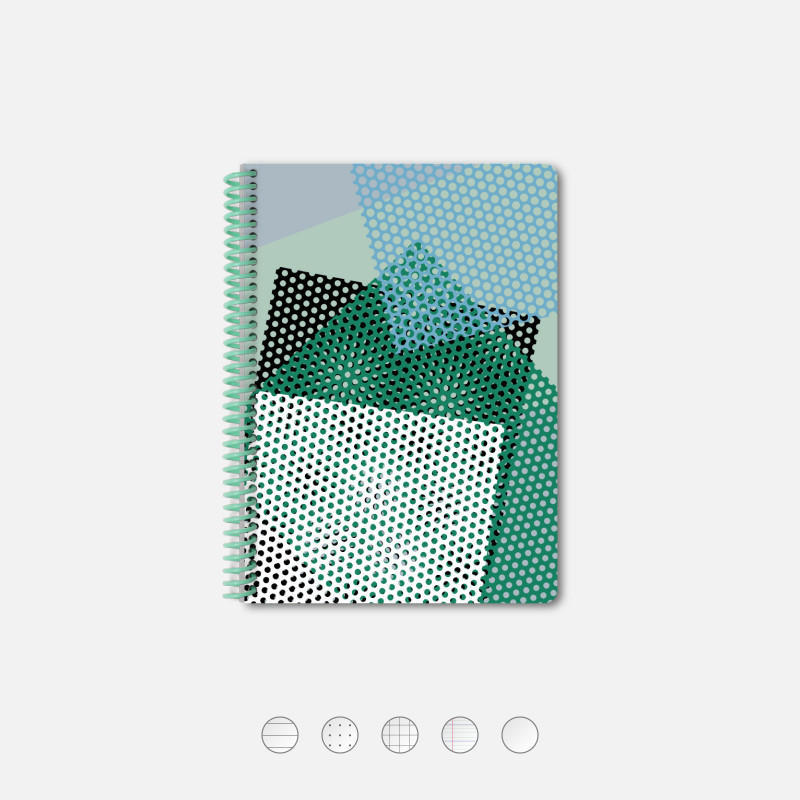 Notebook A5 Perforated green