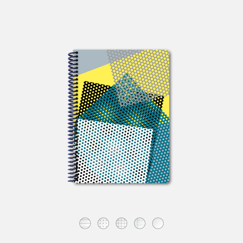 Notebook A5 Perforated yellow