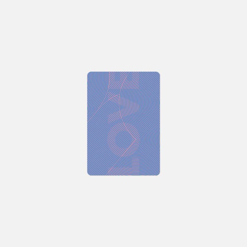 Carte A6 - Love Circuit Bleu