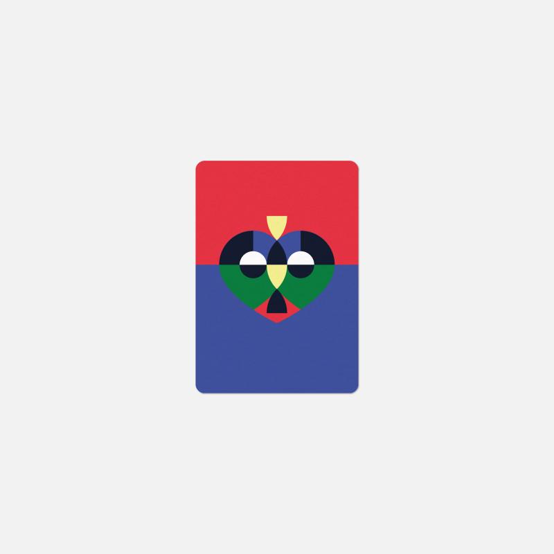 Carte A6 - Coeur RVB