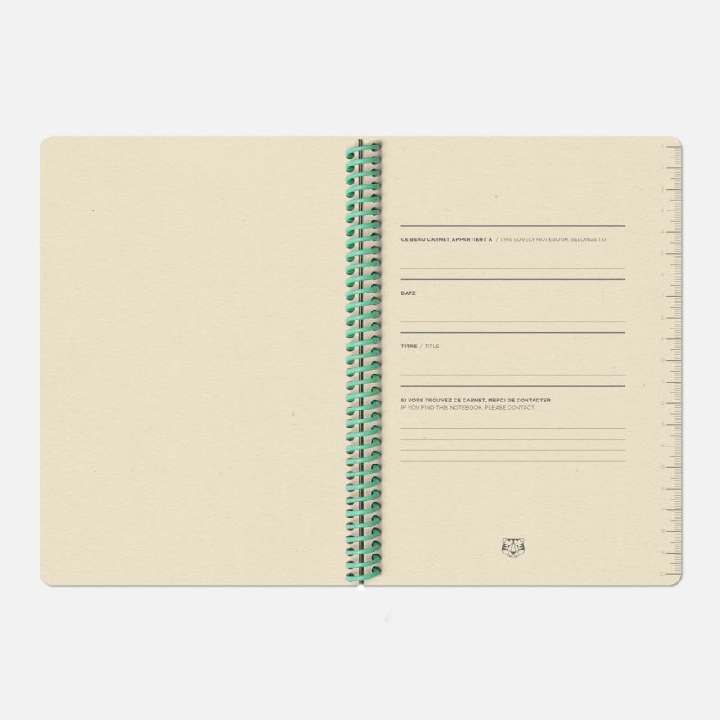 The Plain Canvas A5 Notebook - Coral