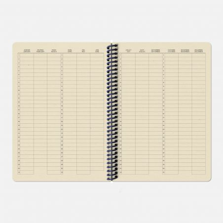 The Plain Canvas A5 Notebook - Heather Grey