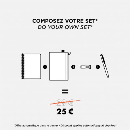 Notebook A5 Black Circuit