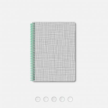 Carnet A5 Grid Blanc