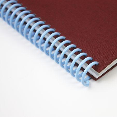 A5 plain canvas notebook - Bordeaux