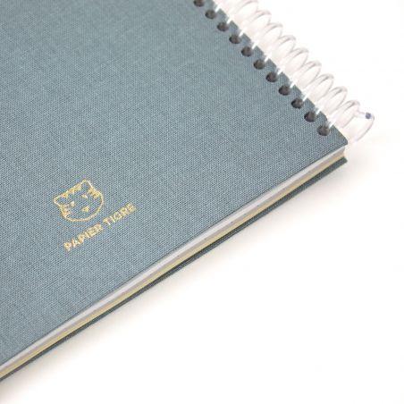 A5 plain canvas notebook - Jean's