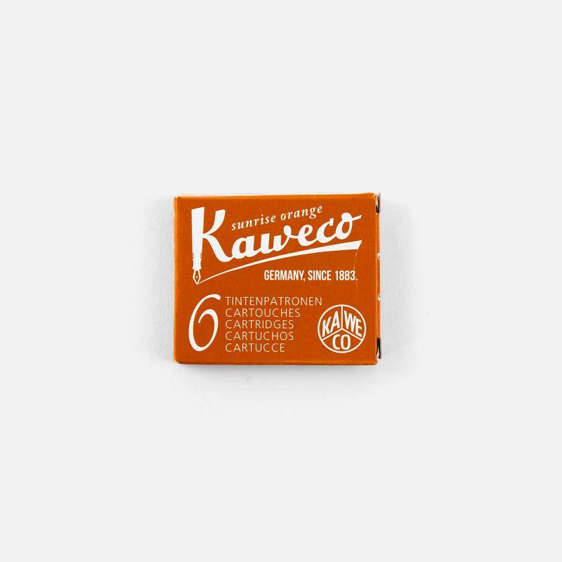 Box of 6 Sunrise Orange cartridges Kaweco