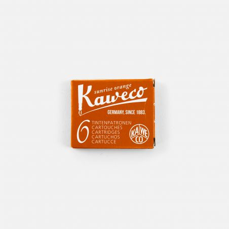 Boite 6 cartouches Sunrise Orange Kaweco