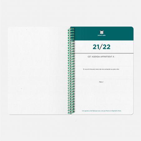 Agenda A5 21/22  Toilé Corail